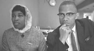 Betty Shabazz with Malcolm X