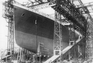 The construction of the Titanic ship