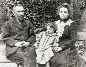 Marie Curie and daughter