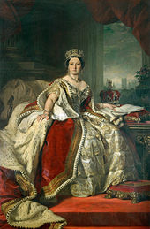 Queen Victoria-- Portrait by Winterhalter, 1859