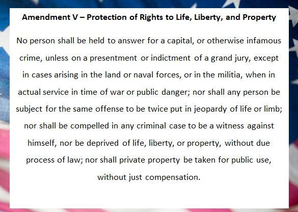Amendment five
