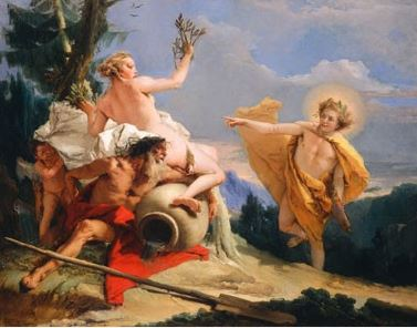 Apollo pursuing Daphne, the nymph