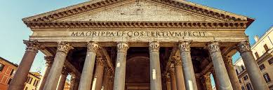Latin Inscription on the Pantheon, Rome