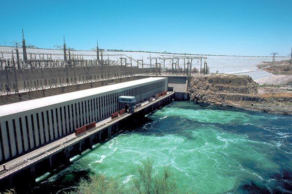 Aswan Dam on the Nile River