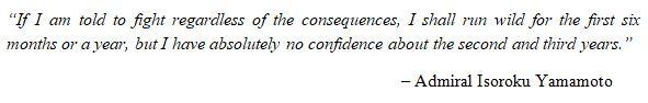 Isoroku Yamamoto Quote