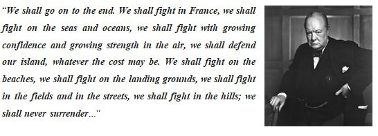 """""""We will fight them on the beaches"""""""