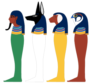 The four sons of Horus