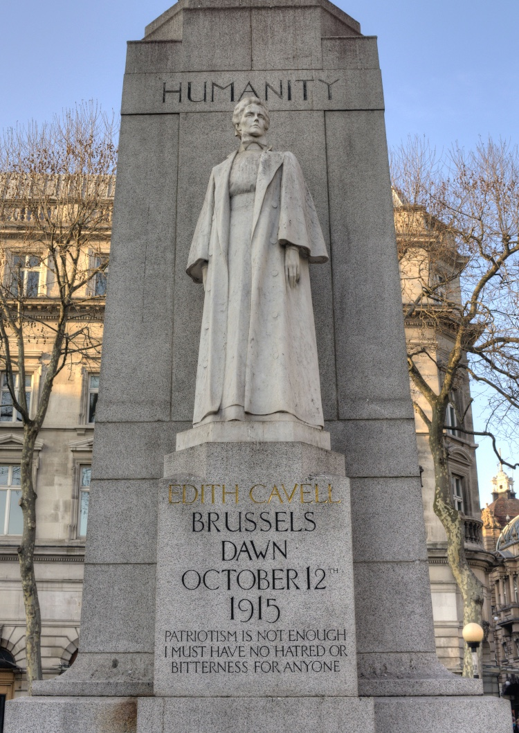 Edith Cavell's statue