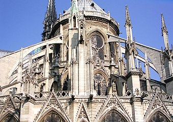 Flying buttresses at Notre-Dame
