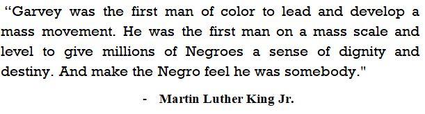 Marcus Garvey's contribution