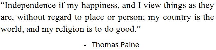 Accomplishments of Thomas Paine