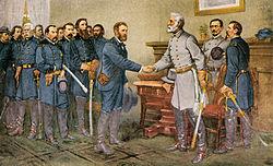 General E. Lee surrender