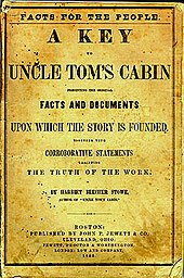 A Key to Uncle Tom's Cabin 1853
